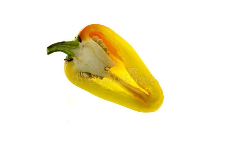 Chili Pepper Yellow Bullhorn royalty-vrije stock foto's