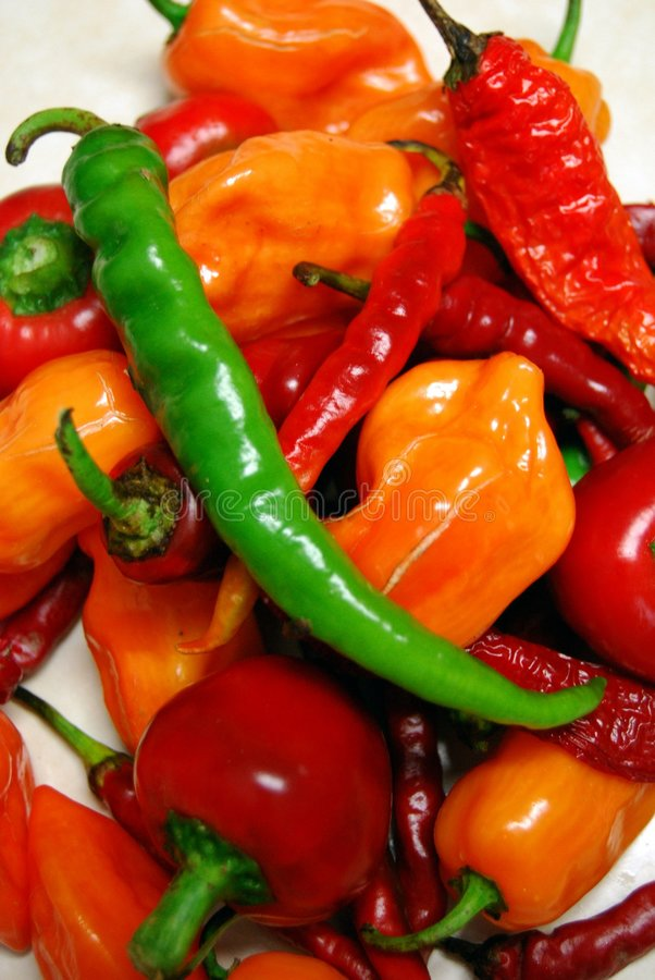 Free Chili Peppers Royalty Free Stock Image - 6492826