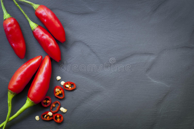 Chili Peppers Food Background rouge photo stock