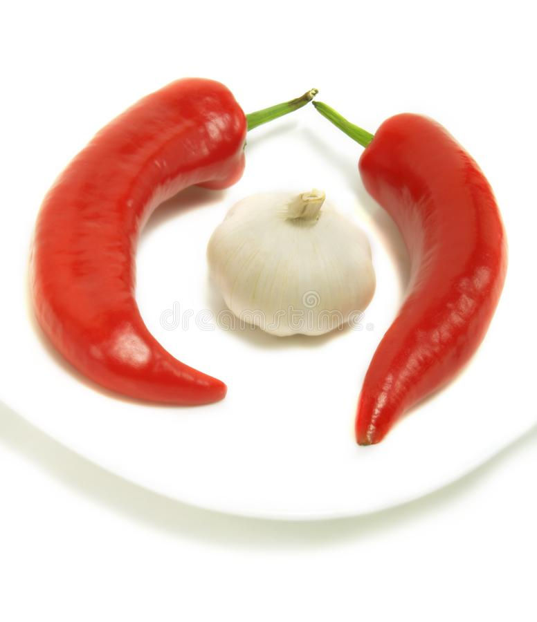 Download Chili peppers and garlic stock photo. Image of chili, spicy - 5613356