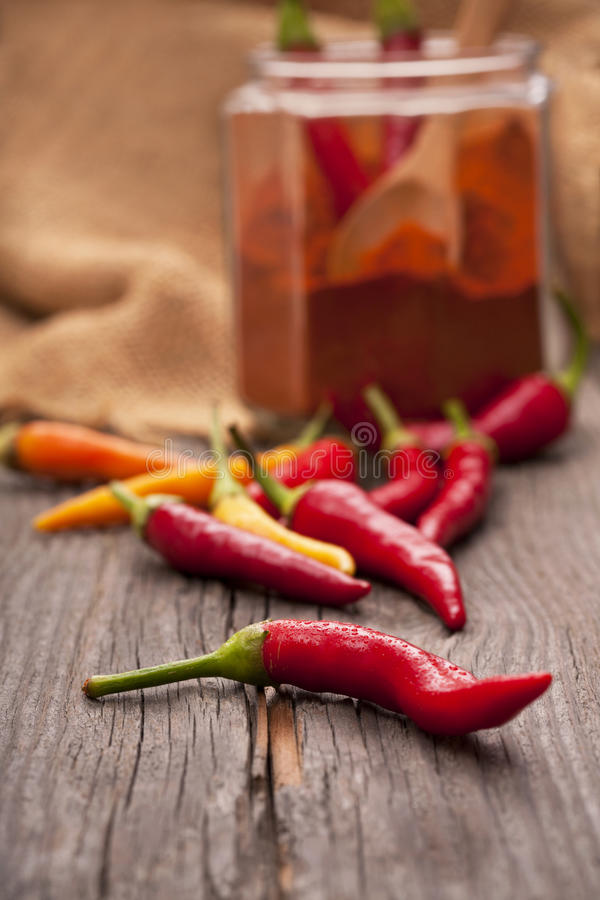 Chili peppers. Healthy organic food stock photography