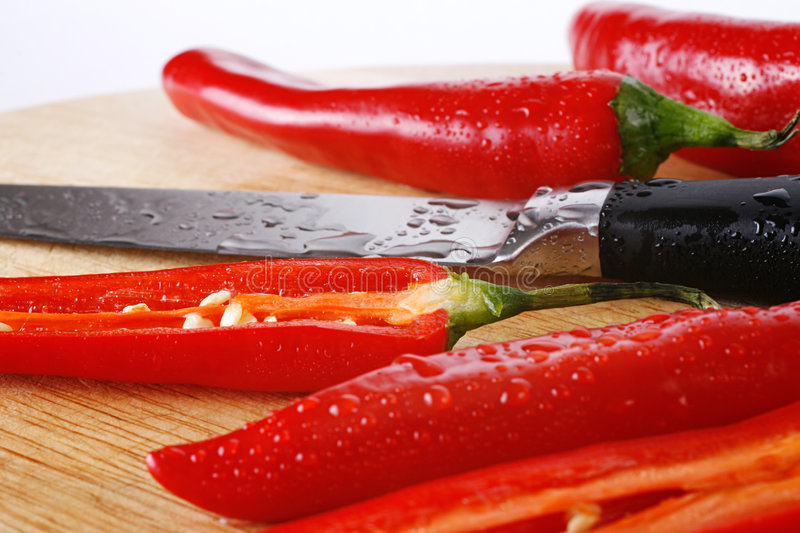 Download Chili Peppers And Knife Stock Images - Image: 2321684