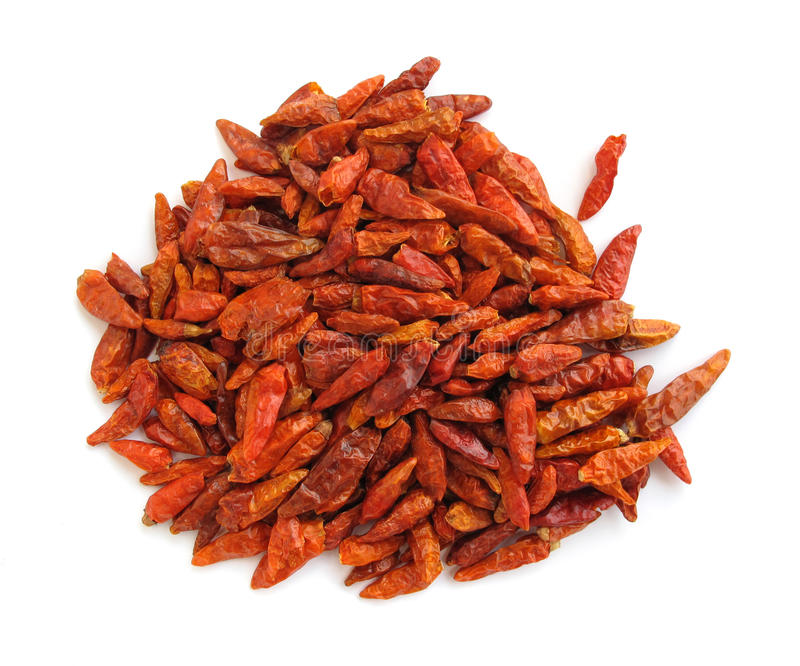 Chili peppers paprika dried stock photo