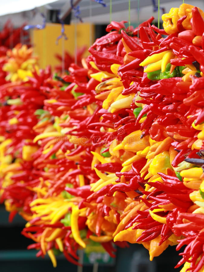 Download Chili Peppers At A Produce Stand Stock Image - Image of habanero, seasoning: 17088727