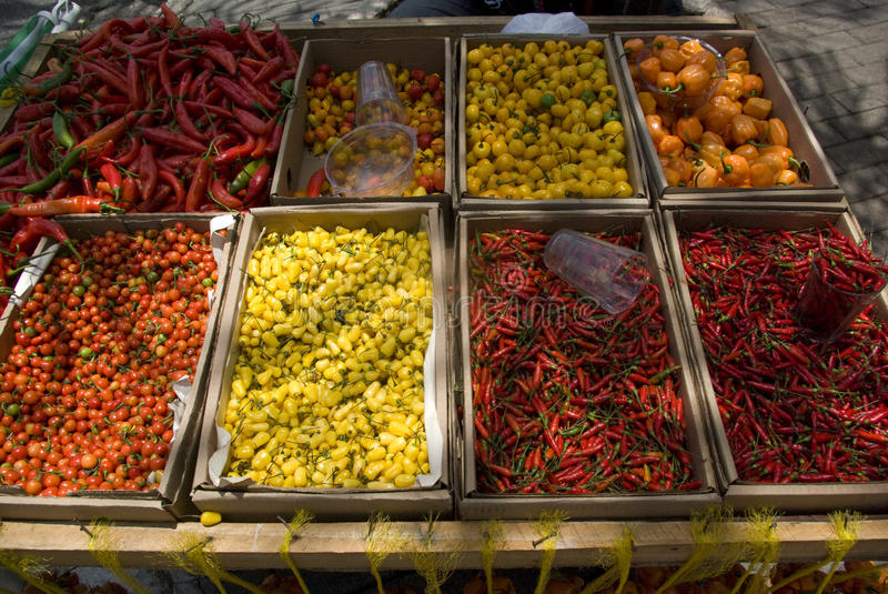 Download Chili peppers for sale stock photo. Image of details - 12694766