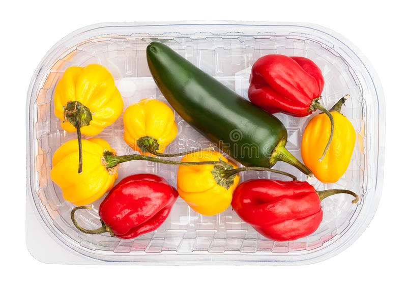 Chili peppers. On white background stock image