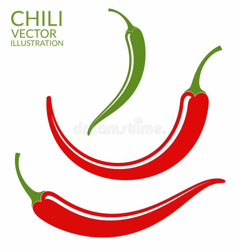 Chili pieprz ilustracja wektor