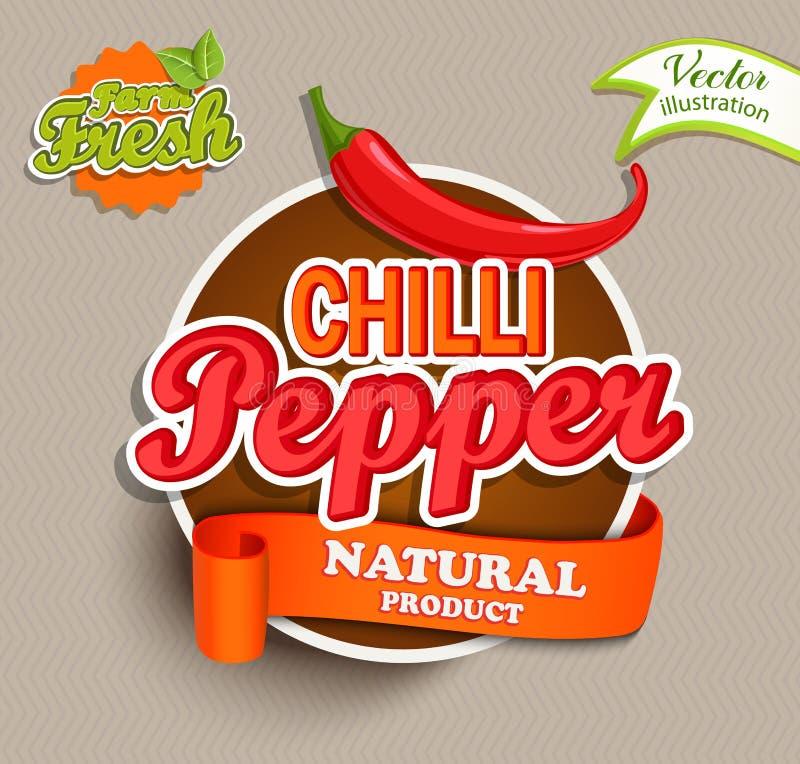 Chili pieprzu logo ilustracji