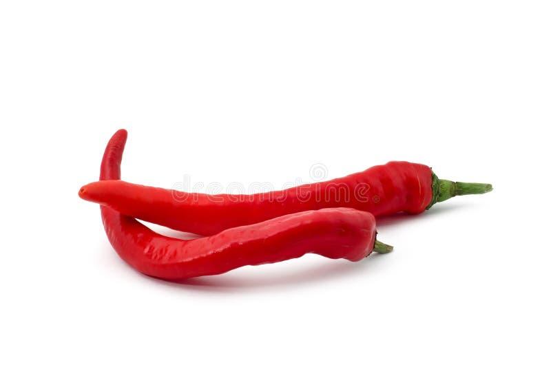 chili pieprzy czerwień dwa zdjęcie stock