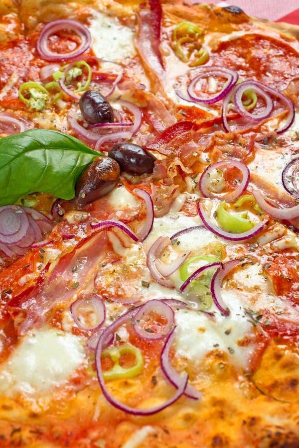 Chili Pizza Diavolo stockbild