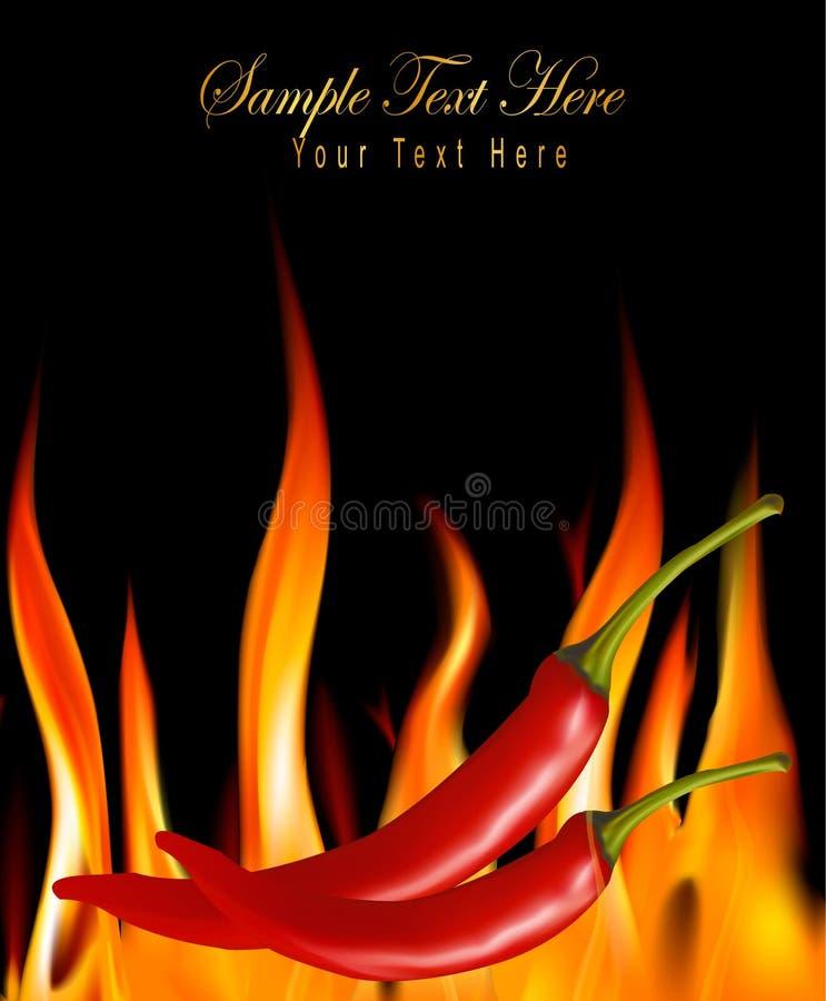 chili pożarniczy gorący pieprzy wektor ilustracja wektor