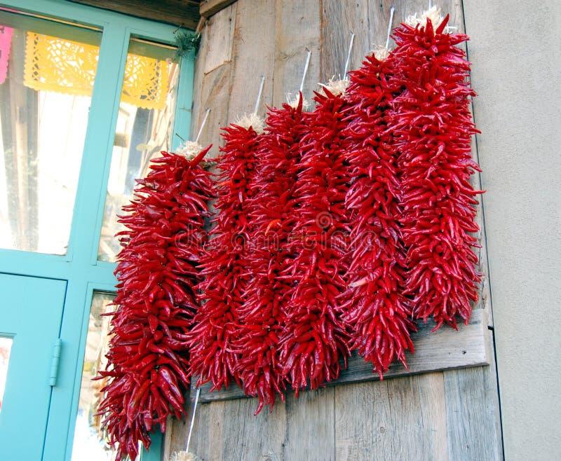 Chili Ristras stock photo