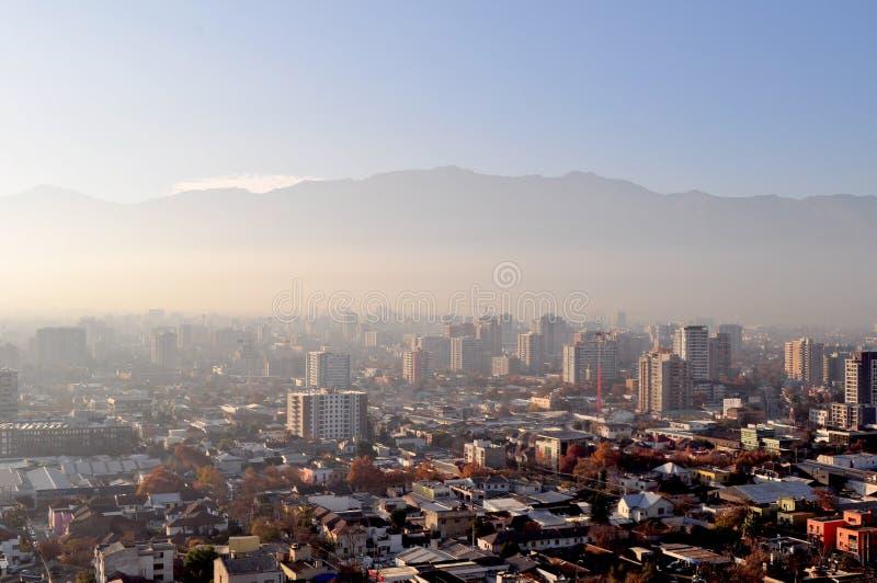 Chili, Santiago de Chile, Cityscape royalty-vrije stock afbeelding
