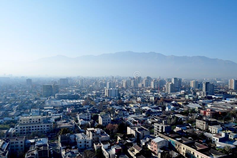 Chili, Santiago de Chile, Cityscape royalty-vrije stock foto's