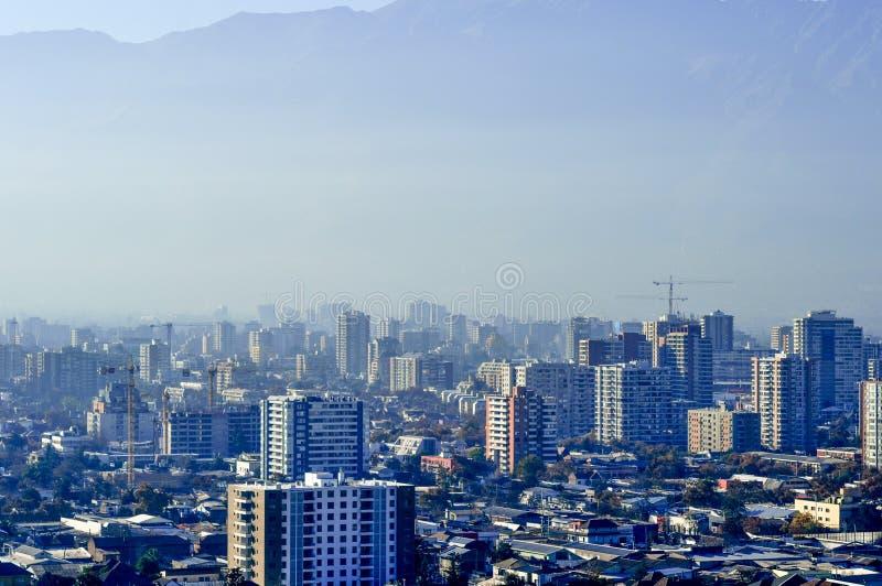 Chili, Santiago de Chile, Cityscape stock foto's