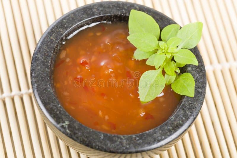 Chili Sauce doce fotografia de stock