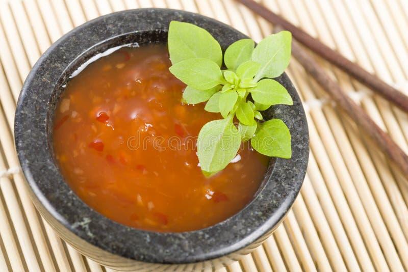 Chili Sauce doce imagem de stock royalty free