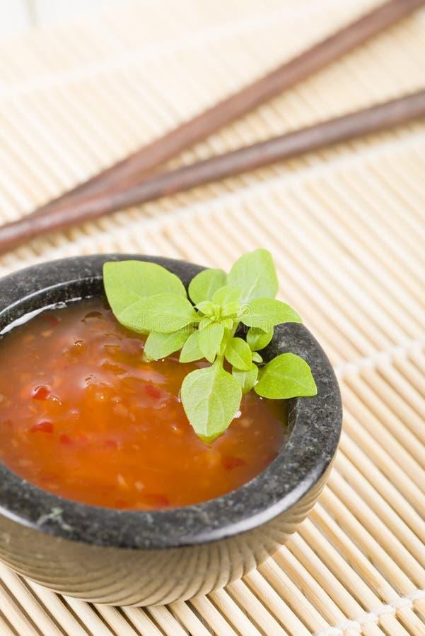 Chili Sauce doce foto de stock