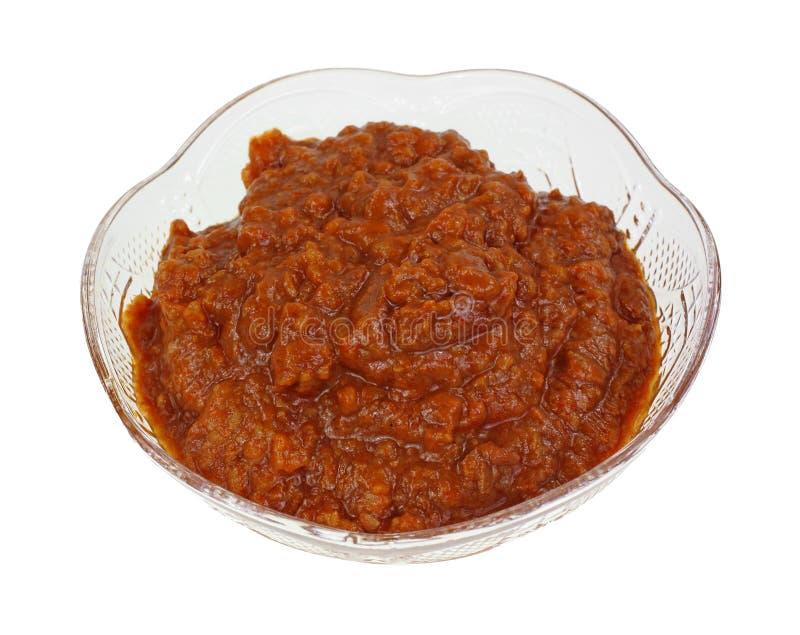 Chili Sauce Plastic Dish stock foto's
