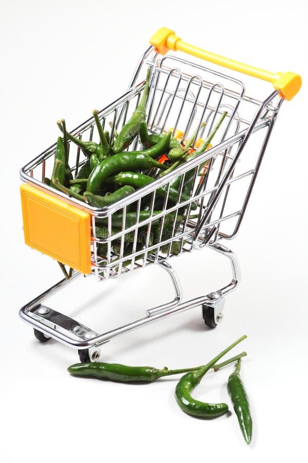 Download Chili in shopping cart stock image. Image of basket, buying - 24101699