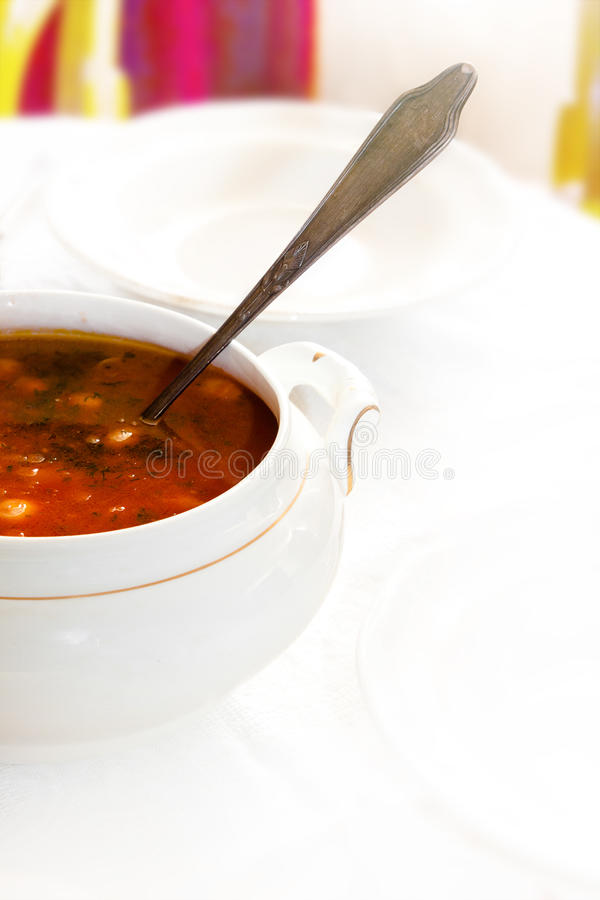 Chili soup stock photos