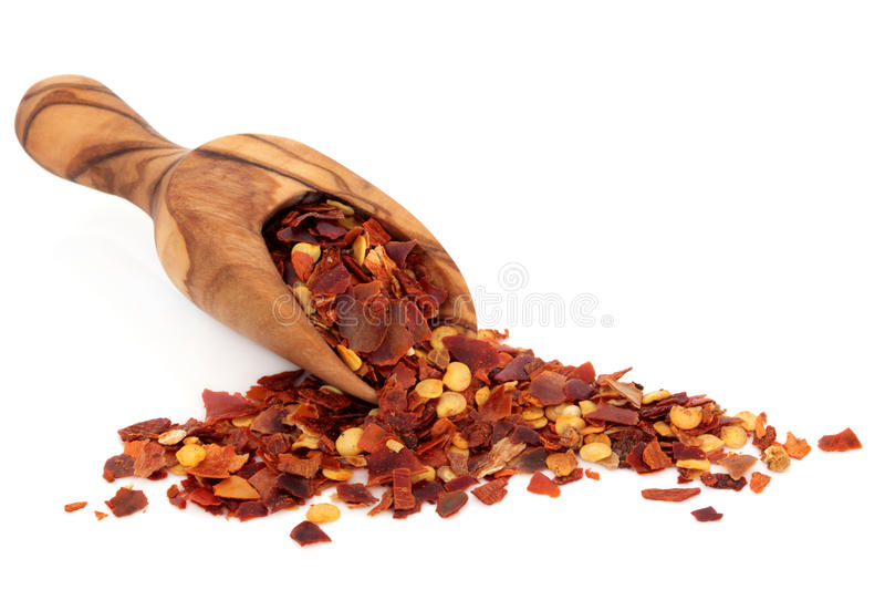 Chili Spice Flakes royalty free stock photo