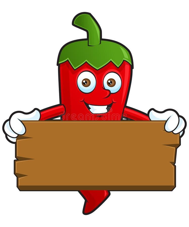 Chili szczęśliwy sztandar ilustracja wektor