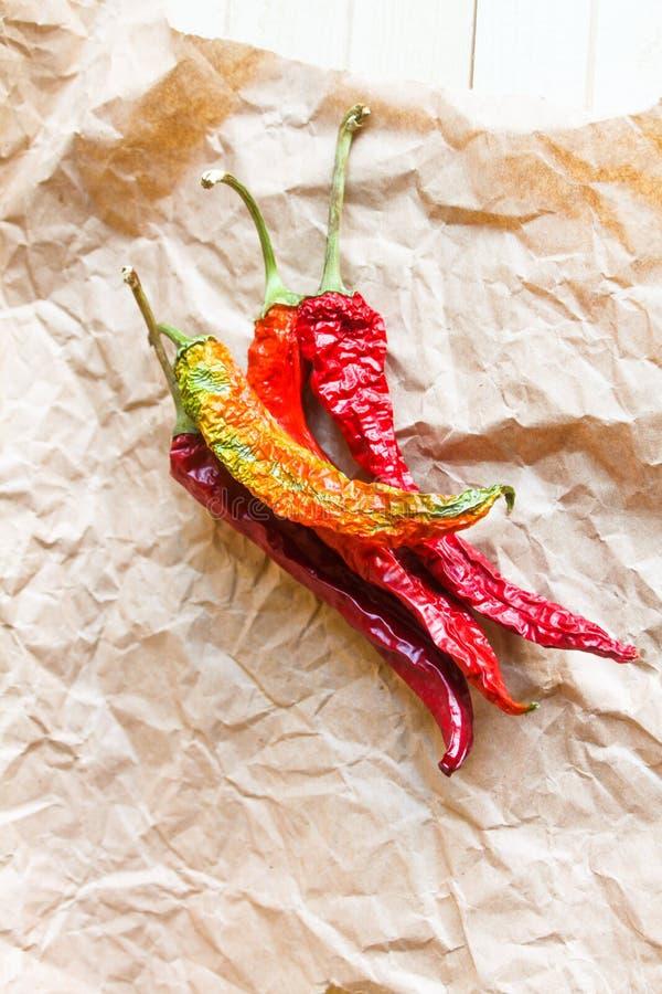 chili torkad peppar royaltyfri foto