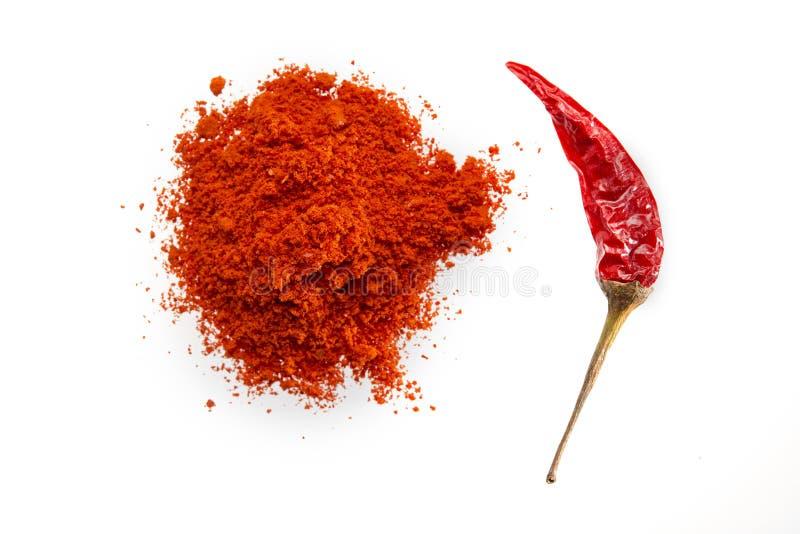 Chili torkade gruondpulver royaltyfri fotografi