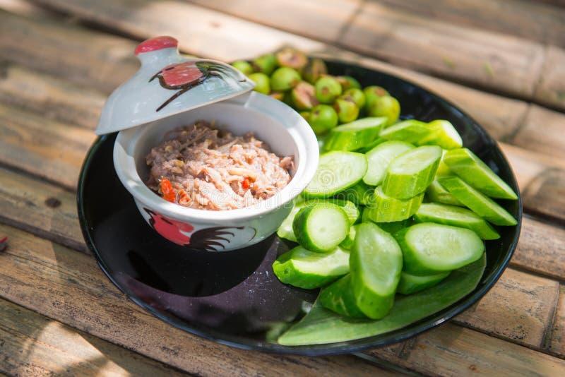 Chilideg med den nya grönsaken arkivfoton