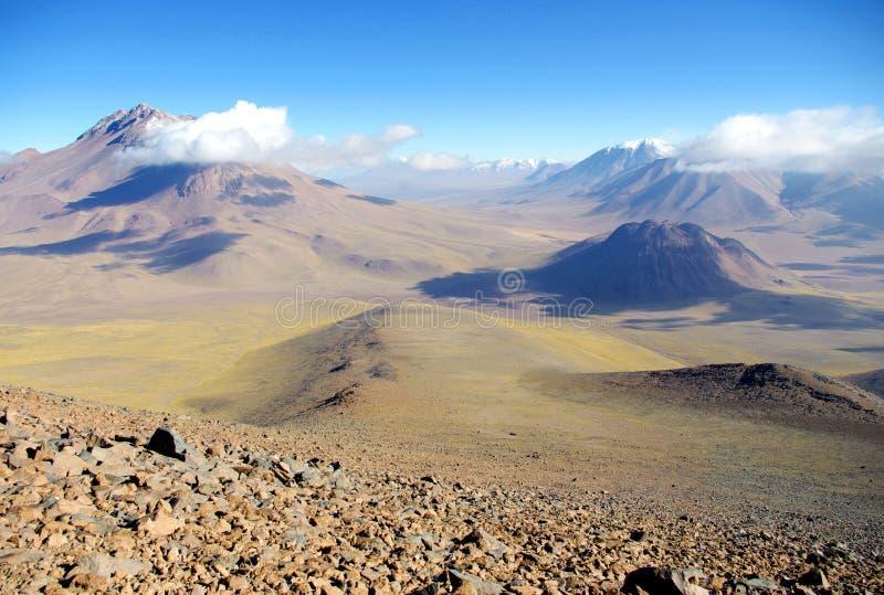 Chilijski wulkan fotografia royalty free