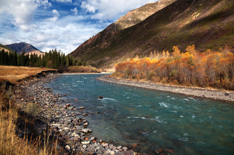 Chilik river in Kazakhstan royalty free stock photography