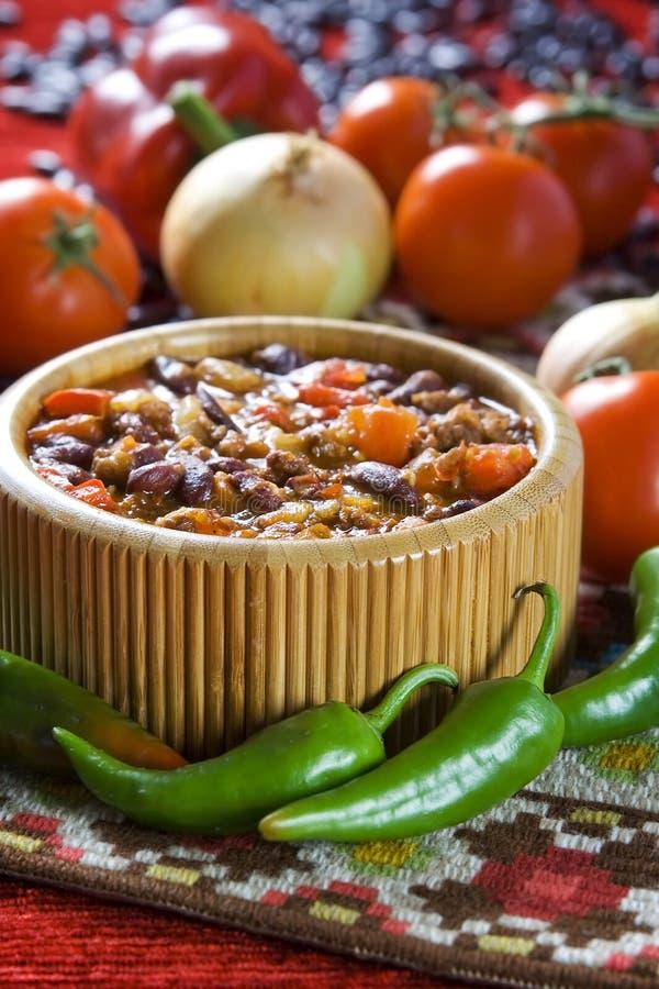 Chilin lurar carne arkivbilder