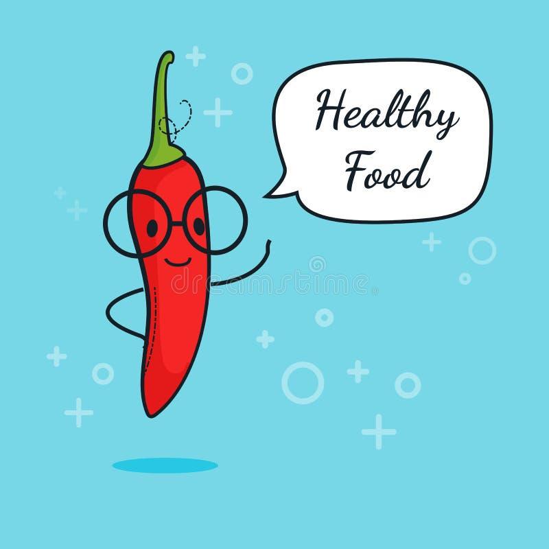 Kall Varm Illustration För Vektor För Chili Pepper