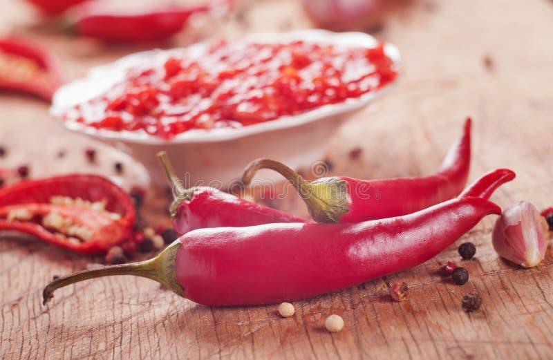 Chilisås arkivfoton
