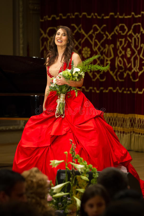 Anastasia Zannis. Born and raised in Athens, soprano Anastasia Zannis studied at the Royal Academy of Music in London , specializing in jazz . Before Academy in stock images