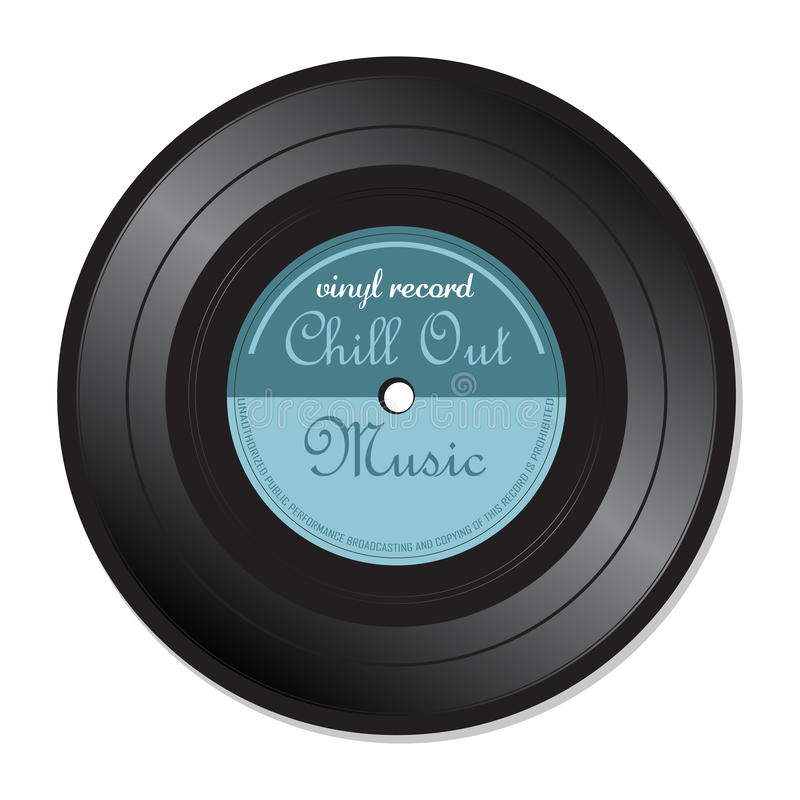 Chill out music vinyl record royalty free stock image