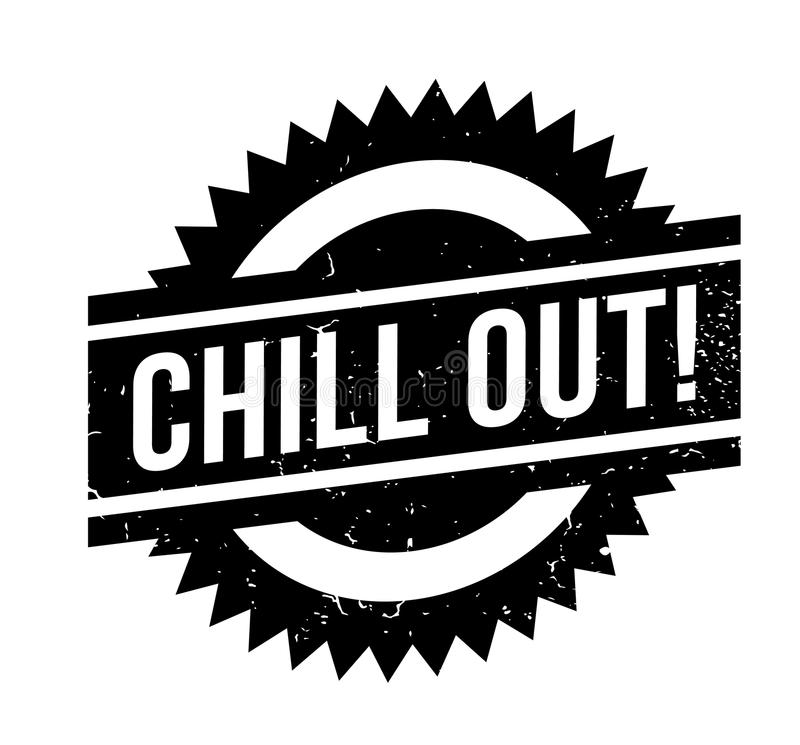 Chill Out rubber stamp. Grunge design with dust scratches. Effects can be easily removed for a clean, crisp look. Color is easily changed royalty free illustration