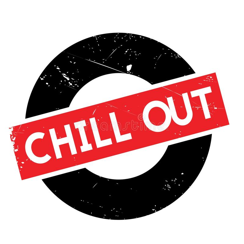 Chill Out rubber stamp. Grunge design with dust scratches. Effects can be easily removed for a clean, crisp look. Color is easily changed vector illustration