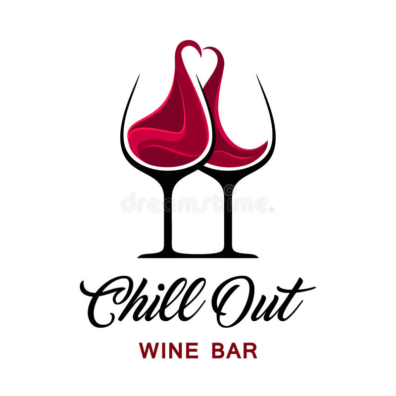 Free Chill Out Wine Bar Logo Template. Stock Photo - 73725600