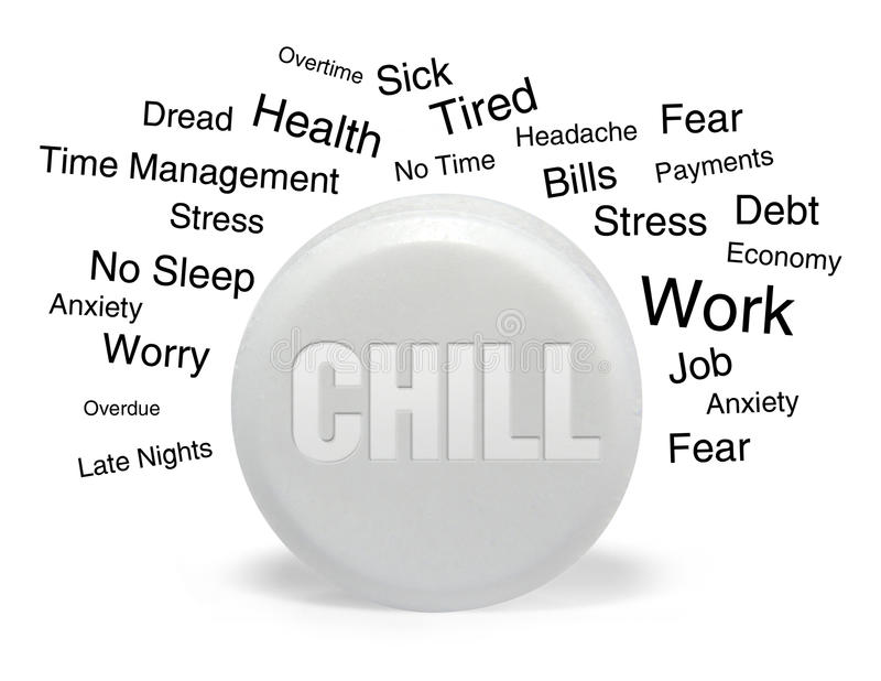 Chill Pill with Text stock photos