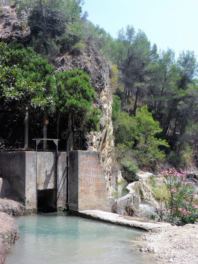 Chillar río-Nerja-Axarquia - Málaga-Andalucía España imagen de archivo