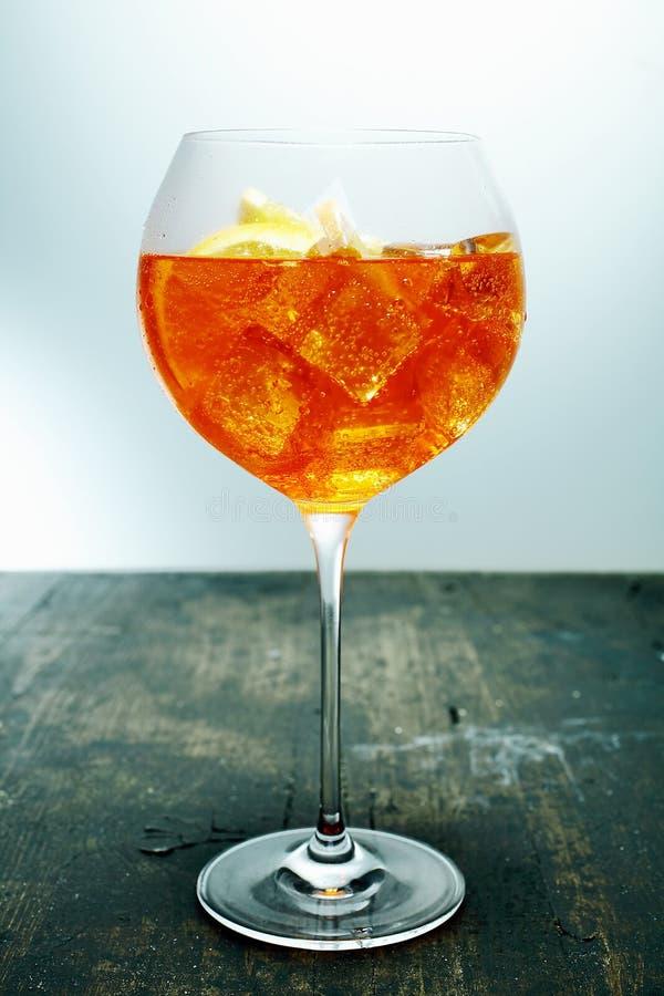 Chilled aperol spritz stock photo