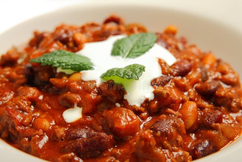 Chilli beans soup stock images