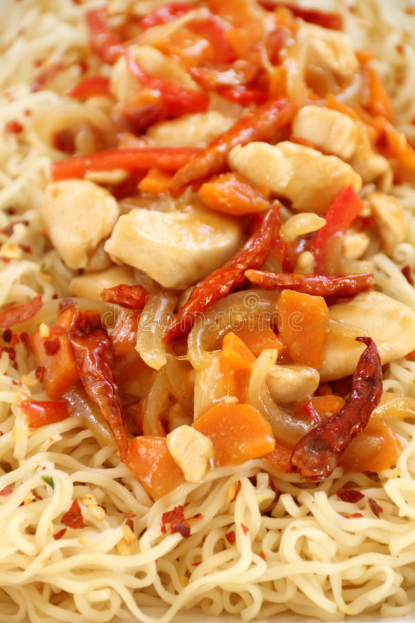 Chilli Chicken Stir Fry stock image
