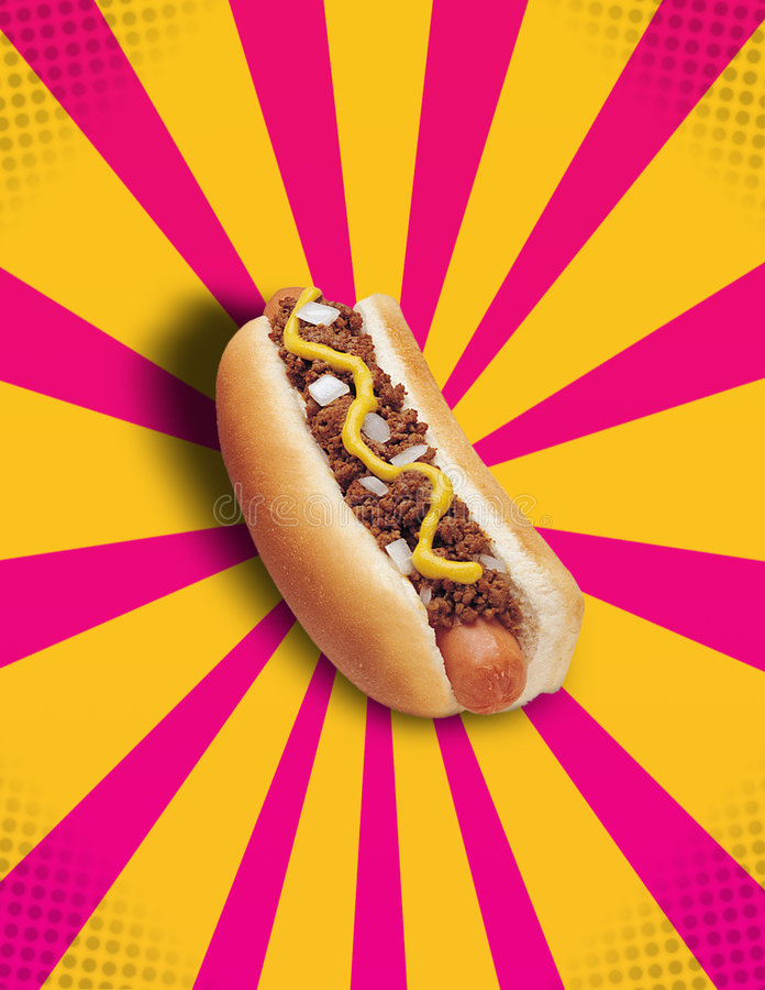 Free Chilli Hot Dog POP! Royalty Free Stock Photos - 3979158