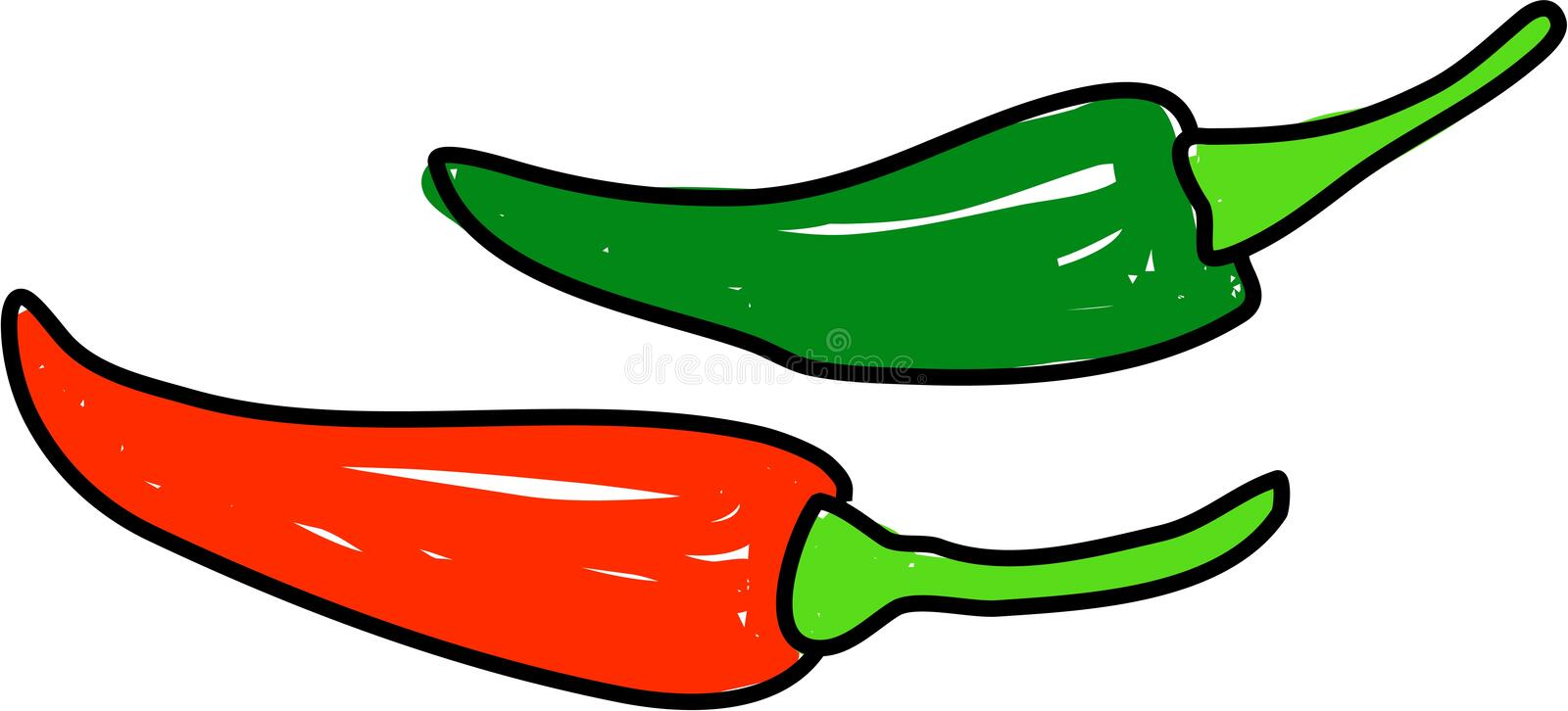 Chilli peppers royalty free illustration