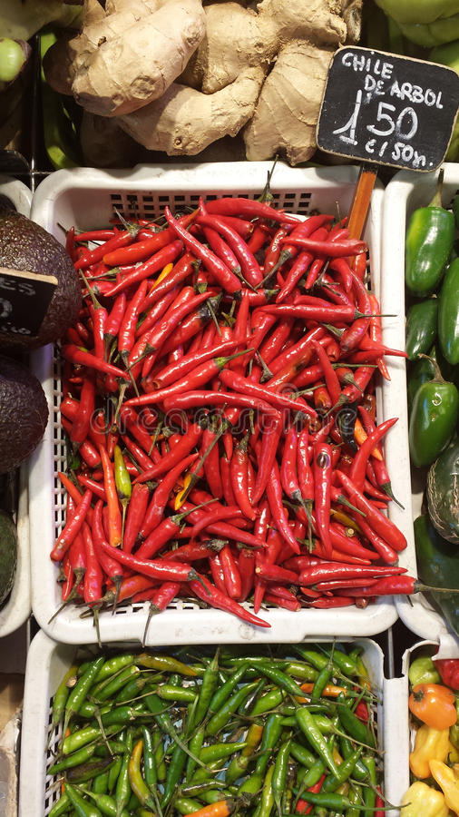 Chilli peppers royalty free stock image