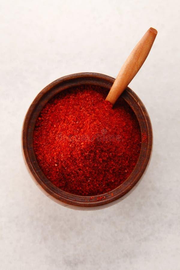 Chilli powder stock image