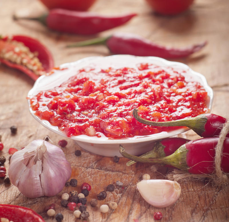 Chilli sauce royalty free stock images